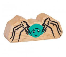6 figurines insectes en bois colorés araignée