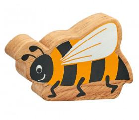 6 figurines insectes en bois colorés abeille