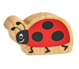 6 figurines insectes en bois colorés coccinelle