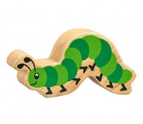 6 figurines insectes en bois colorés chenille