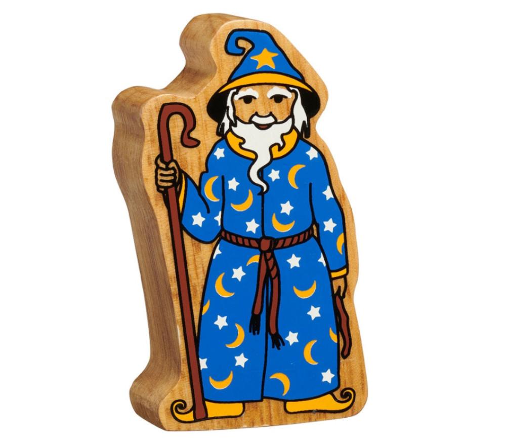 Magicien sorcier en bois 106 x 60 x 25 mm personnage merlin
