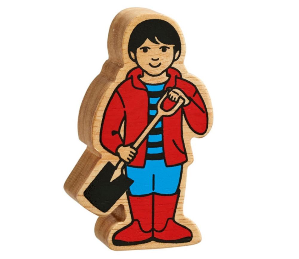 Garçon en bois 80 x 47 x 25 mm personnage jeu