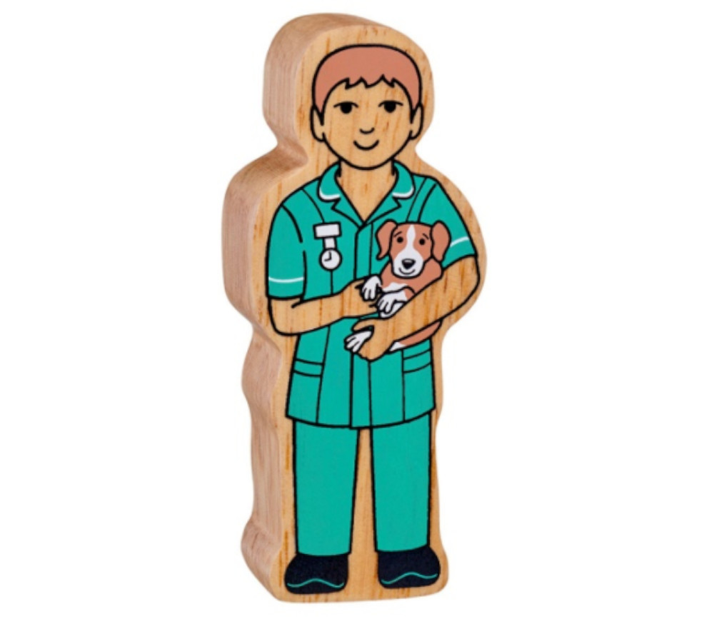 Vétérinaire en bois 100 x 42 x 25 mm personnage jeu