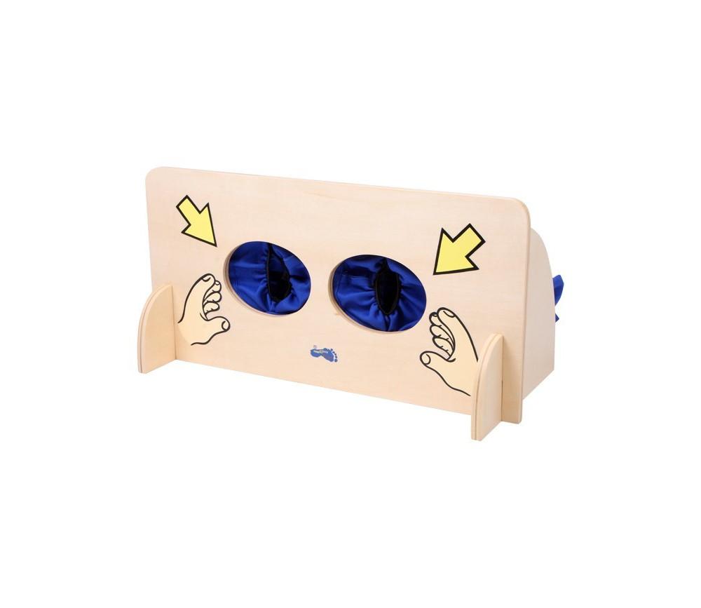 Mur tactile pour jeu de toucher à l'aveugle