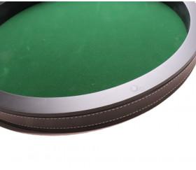 2ème choix : Piste dés bois laqué noir 40 cm avec léger défaut