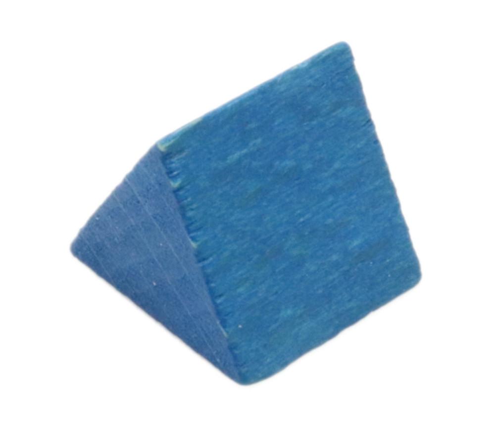 Triangle en bois bleu - tente 17 x 15 x 15 mm
