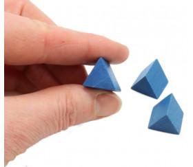 Prisme triangle bleu 17x15x15 mm