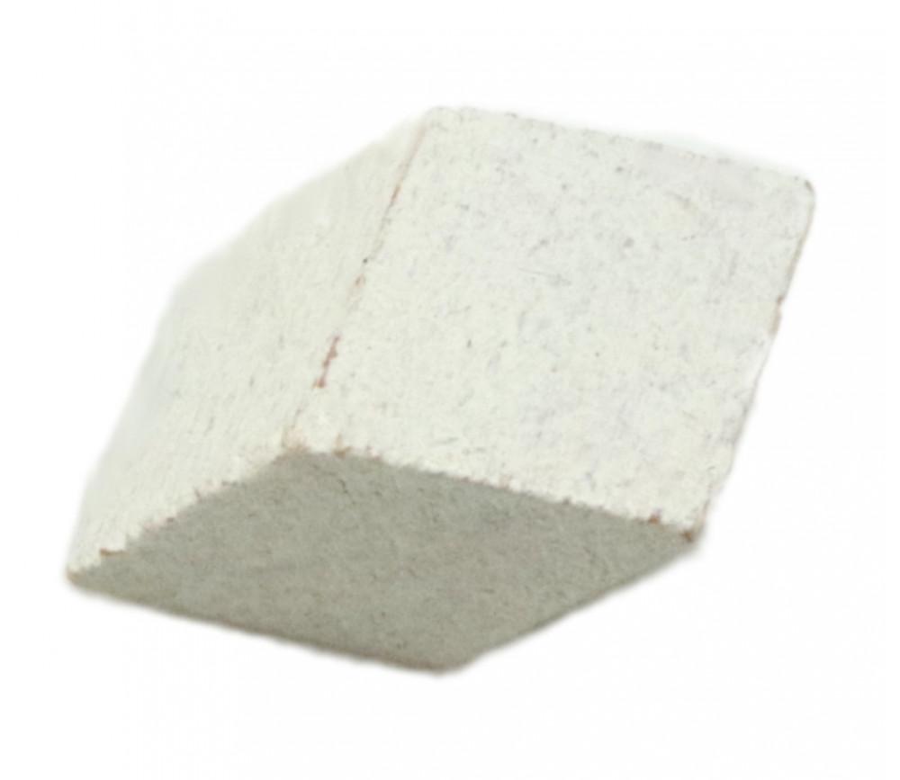 Parallélogramme losange en bois teinté blanc