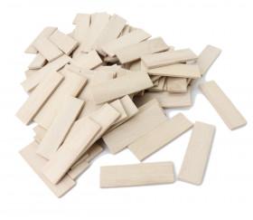 FIN DE SERIE :100 Jetons rectangles de jeux en bois naturel blanchi