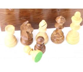 32 Pièces échecs en bois 76 mm taille T3 LESTE coffret en bois