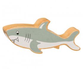 Requin gris en bois grande taille 56 x 136 x 25 mm