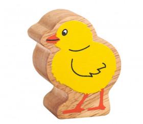 Poussin jaune en bois 48 x 38 x 25 mm