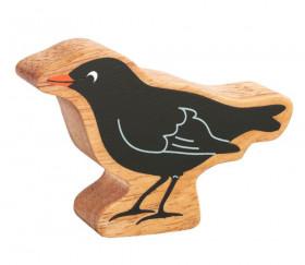 Merle noir oiseau en bois 54 x 77 x 25 mm