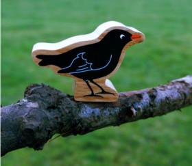 Merle noir oiseau en bois 54 x 77 x 25 mm pion de jeu