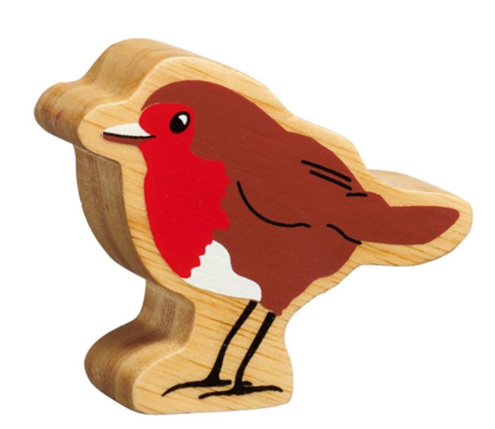 Oiseau en bois brun et rouge 53 x 63 x 25 mm rouge gorge pion jeu