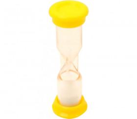 Sablier 1 minute jaune pour jeu MM 9.8cm