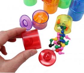 mini boite empilable en plastique transparent