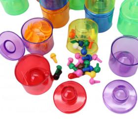 petites boites empilables en plastique transparent