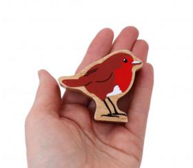 Rouge-gorge en bois épais 25 mm