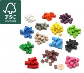 20 Cubes en bois certifié FSC 0.8 cm. 8x8x8 mm