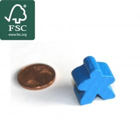 Pion de jeu meeple original personnage bleu en bois certifié FSC type carcassone