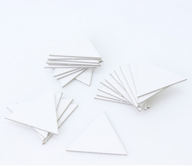 25 tuiles triangles équilatérales blanches 4 cm