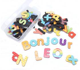 boite de 99 lettres de l'alphabet magnétiques