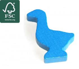 Pion oie bleue en bois certifié FSC de 35 x 26 x 8 mm pour jeu