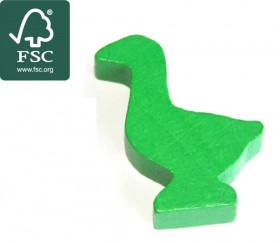 Pion oie vert en bois certifié FSC de 35 x 26 x 8 mm pour jeu