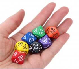 Choisissez la couleur du dé 10 faces dizaines 00 à 90