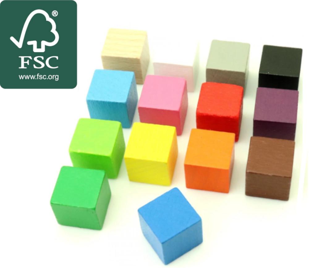 Cube en bois certifié FSC 1.6 cm. 16 x 16 x 16 mm pour jeu achat en ligne unité