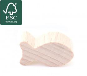 Pion poisson en bois certifié FSC naturel 24 x 13 mm pour jeu