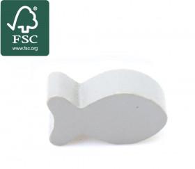 Pion poisson gris en bois certifié FSC 24 x 13 mm pour jeu
