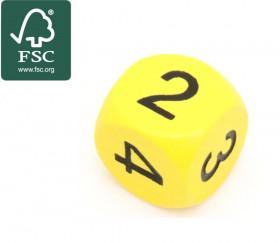 Dé 2 2 3 3 4 4 en bois  certifié FSC de 16 mm jaune