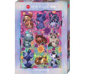 Puzzle 1000 pièces Kitty Cats, Dream 50 x 70 cm. Heye