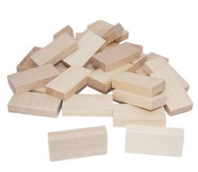 28 petits dominos en bois neutres à personnaliser 40 x 20 x 8 mm