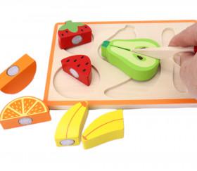 Fruits à découper en bois - puzzle à encastrer