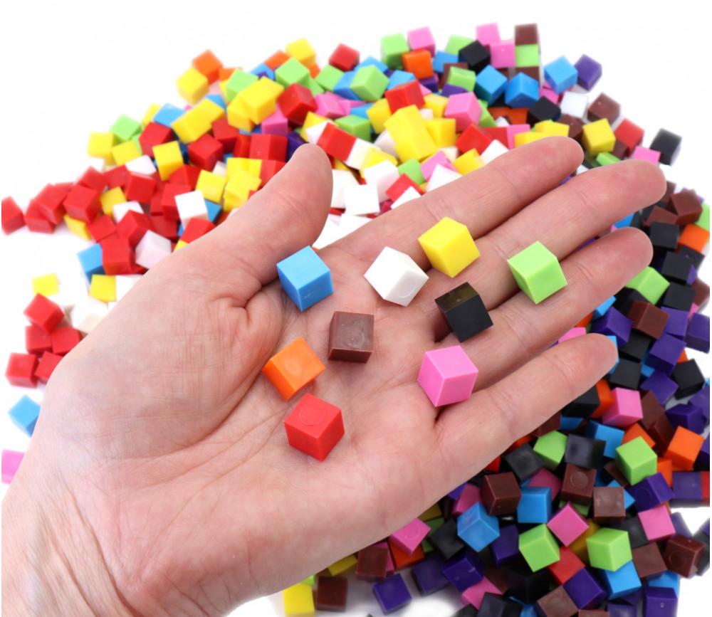 1000 cubes 1 cm3 multicolores