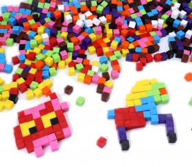1000 cubes 1 cm3 de 10 couleurs différentes