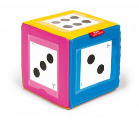 24 Cartes 11.5 cm pour dés à personnaliser et jeux : points chiffres, fractions, émotions et couleurs