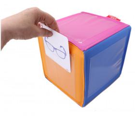 Dé couleurs avec pochettes pour personnalisation 20 cm