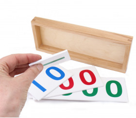 Plaquettes bois 1 10 100 et 1000 : unité, dizaine, centaine, millier