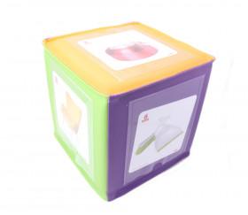 Exemple utilisation fiches objets de la maison avec un dé à pochettes vendu séparément