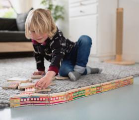 Dominos TRAINS wagons en bois géant jeu