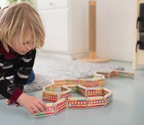 Dominos TRAINS en bois géant jeu bs toys