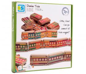 Dominos TRAINS en bois géant jeu éducatif