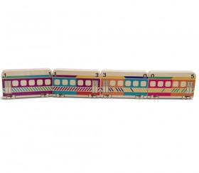 Dominos TRAINS couleur formes et chiffres en bois géant jeu