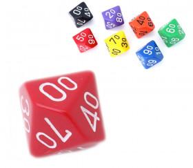 Dé à 10 faces DIZAINE 00 à 90 opaque jeux de rôle d10