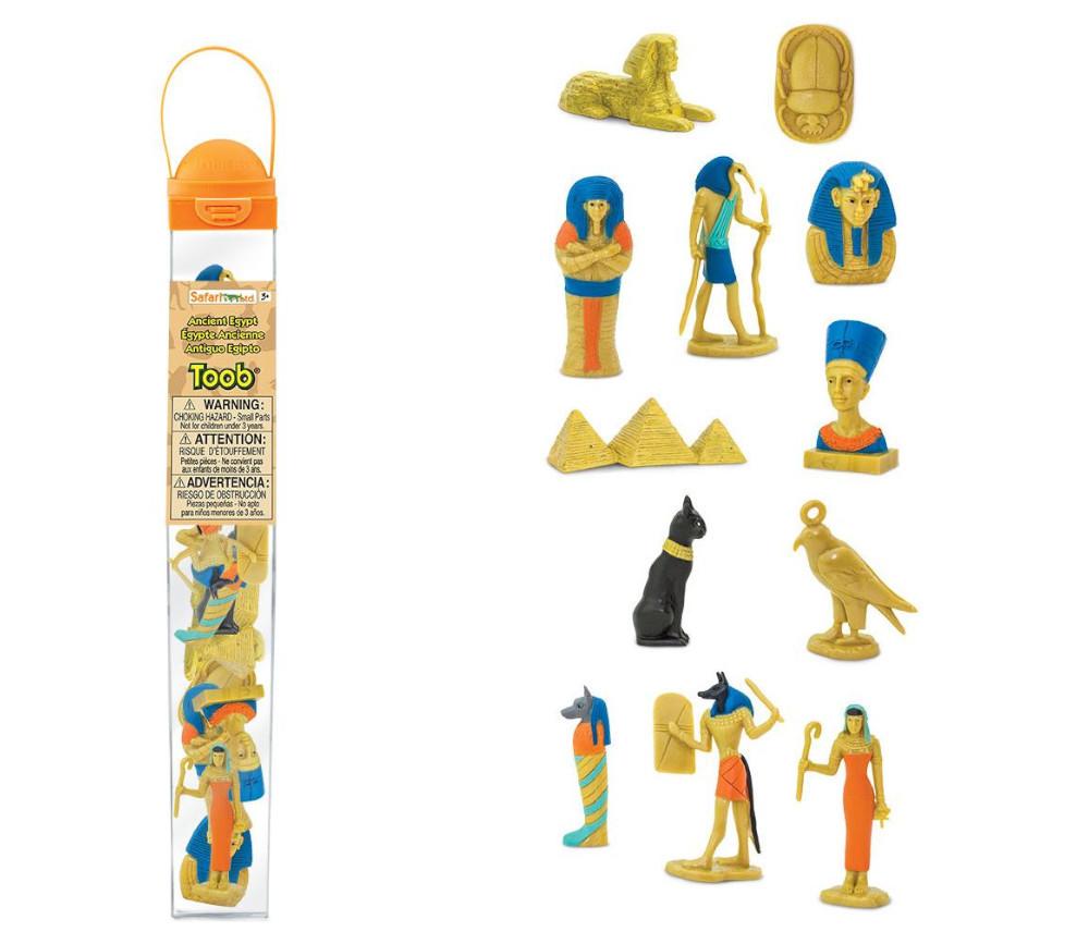 Epoque égyptienne : set 12 figurines livrées avec tube de rangement