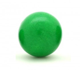 Boule bois 30 mm verte